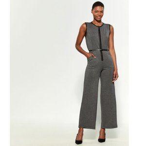 NWT Max Studio Charcoal Gray Sleeveless Jumpsuit